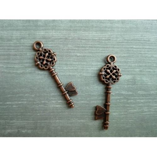 Металлический декор Ключ №11 Бронза, 3х0.8 см