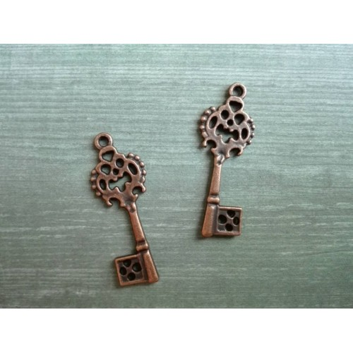 Металлический декор Ключ №9 Медь, 2.8х0.8 см