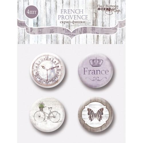 Набор скрап-фишек для скрапбукинга  French Provence от Scrapmir, 4 шт
