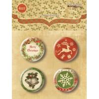 Набор скрап-фишек для скрапбукинга Christmas Night 2 от Scrapmir, 4 шт