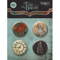 Набор скрап-фишек для скрапбукинга Time to Dream от Scrapmir, 4 шт