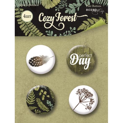Набор скрап-фишек для скрапбукинга Cozy Forest от Scrapmir, 4 шт