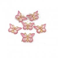 Кабошон Бабочка розовая, 25*38 мм