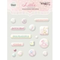 Эпоксидные наклейки Little Bunny от Scrapmir, 16 шт