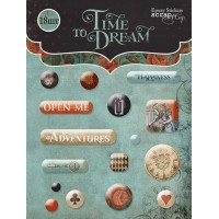 Эпоксидные наклейки Time to Dream(eng.) от Scrapmir, 16 шт
