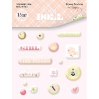 Эпоксидные наклейки Doll Baby от Scrapmir, 16 шт