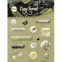Эпоксидные наклейки Cozy Forest от Scrapmir, 16 шт