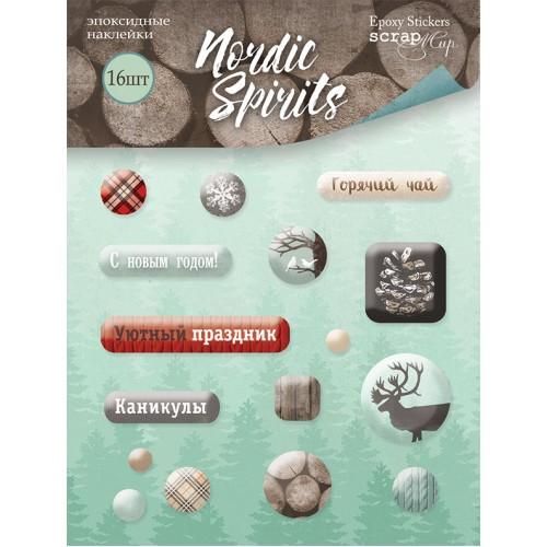 Эпоксидные наклейки Nordic Spirits от Scrapmir фото