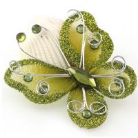 Бабочка для декора Салатовая, 5х4,5 см