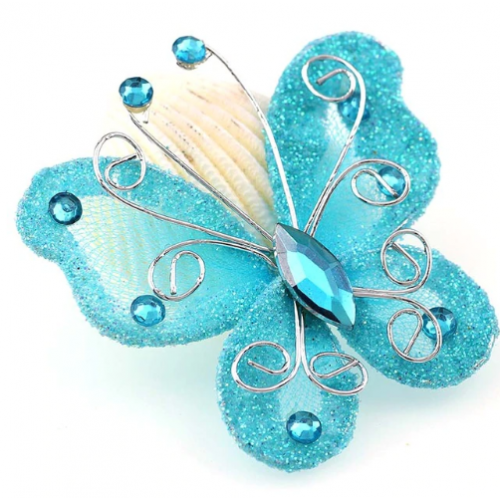 Бабочка для декора Голубая, 5х4,5 см