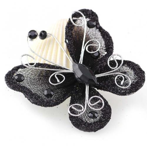 Бабочка для декора Черная, 5х4,5 см