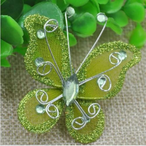 Бабочка для декора 5х4,5 см Салатовый