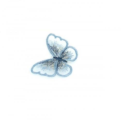 Бабочка Голубая на сеточке, 5х4 см