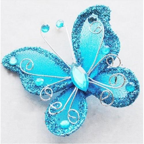 Бабочка для декора 5х4,5 см Голубой