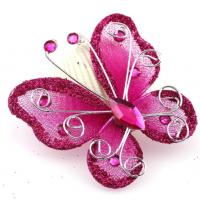 Бабочка для декора Малиновая, 5х4,5 см