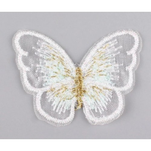Бабочка Белая на сеточке, 5х4 см