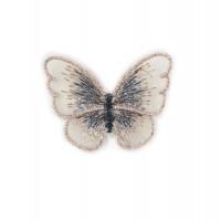 Бабочка Кремовая на сеточке, 5х4 см