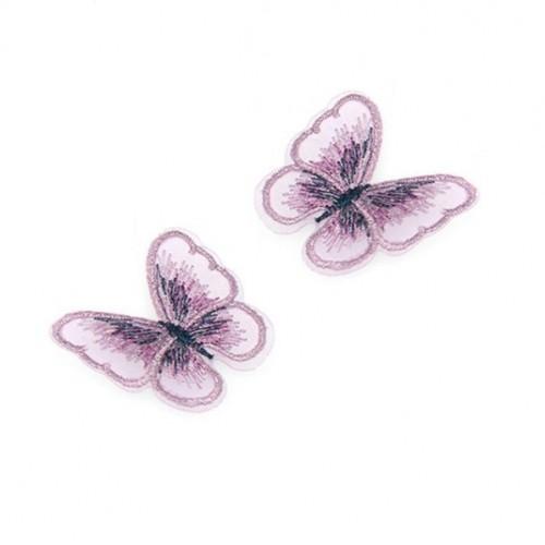 Бабочка Розовая на сеточке, 5х4 см