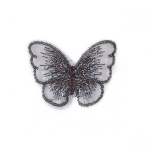 Бабочка Черная на сеточке, 5х4 см