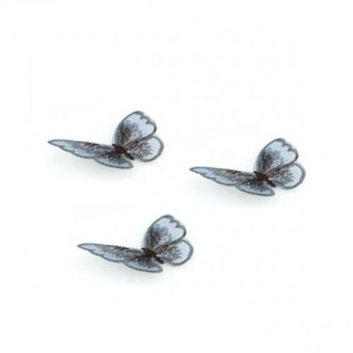 Бабочка Бирюзовая на сеточке, 5х4 см