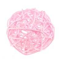 Шарик из ротанга Светло-розовый, 3 см
