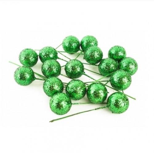 Шарик для декора Зеленый, 2 см
