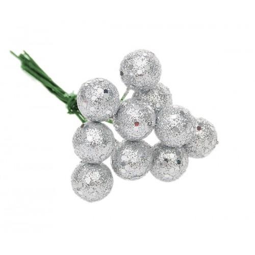 Шарик для декора Серебро, 2 см