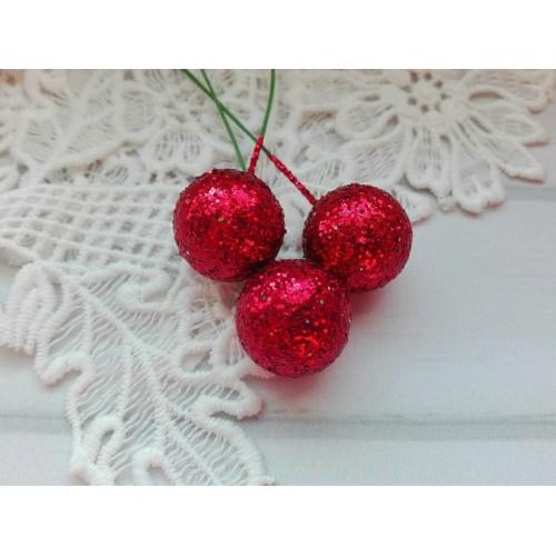 Шарик для декора Красный, 2 см