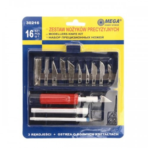 Набор ножей для точных работ MEGA 30216