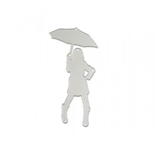 Нож для вырубки Девушка с зонтом, фото