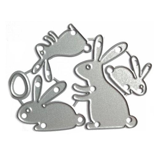 Набор ножей для вырубки Пасхальные кролики