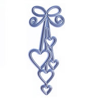 Нож для вырубки Сердца на нитке