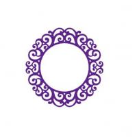 Нож для вырубки Рамка круглая с орнаментом