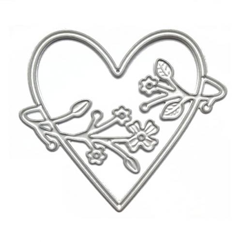 Нож для вырубки сердце с веточками, фото
