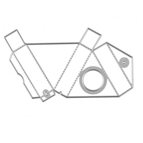 """Нож для вырубки """"Треугольная коробка с окном"""" фото"""