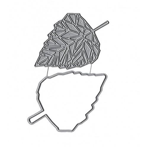 Набор ножей для вырубки Листочки №15, фото
