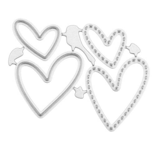 Набор ножей для вырубки сердца №2, фото