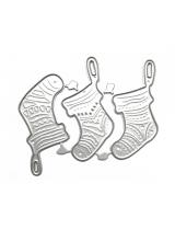 """Набор ножей для вырубки """"Рождественские носочки"""""""