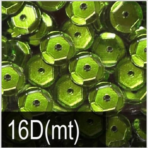 Пайетки с металлическим блеском. Ярко-зеленый