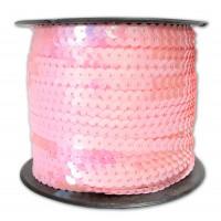 Пайетки на нитке 6 мм  Розовые, 1 м