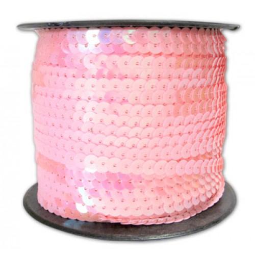 Пайетки на нитке 6 мм  Розовые фото