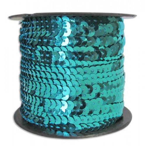Пайетки на нитке 6 мм Голубые фото