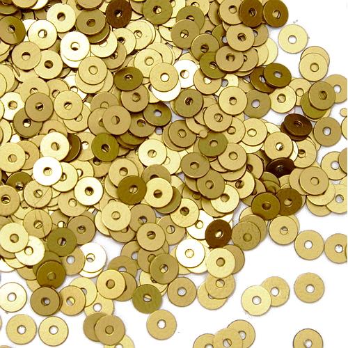 Пайетки плоские 4 мм Pgolden, фото