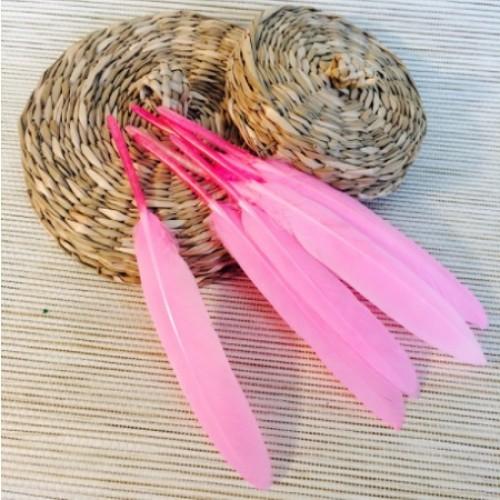 Перо декоративное розовый 15 см