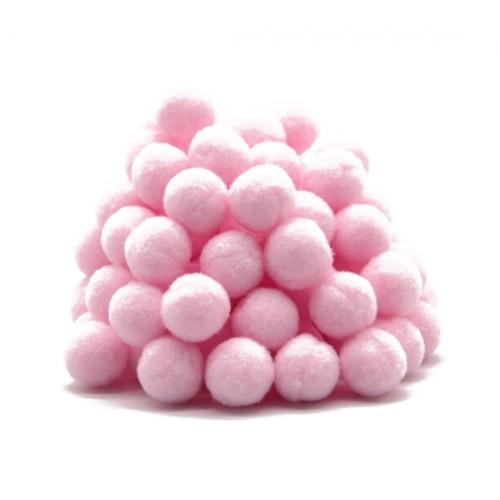 Помпон для декора Светло-розовый 10 мм, 1шт