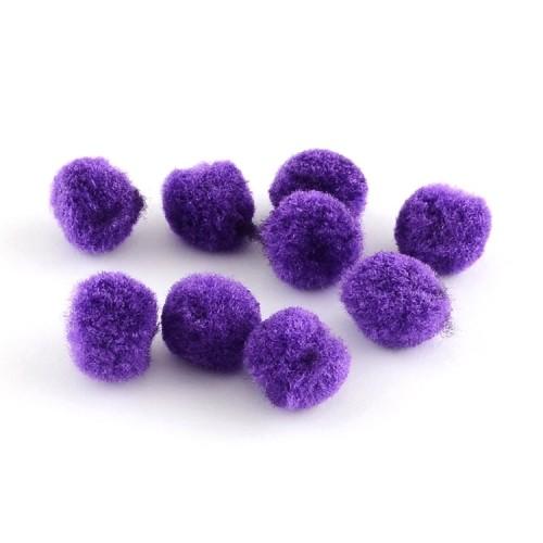 Помпон для декора Фиолетовый 20 мм фото