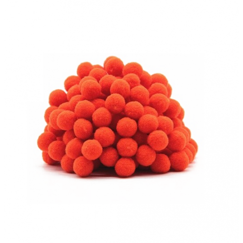 Помпон для декора Темно-оранжевый, фото