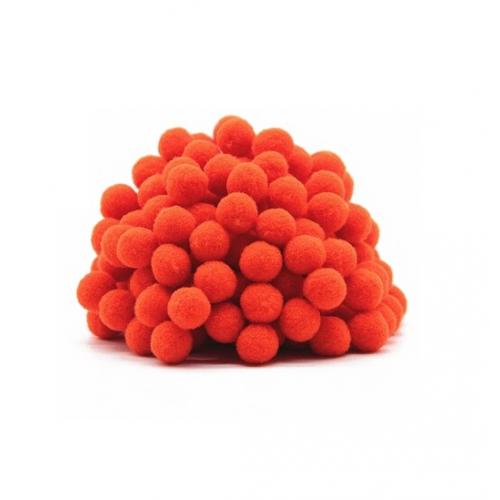 Помпон для декора Темно-оранжевый 10 мм, 1шт