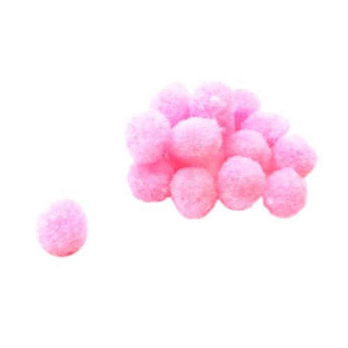 Помпон для декора Розовый 20 мм, 1шт