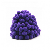 Помпон для декора Фиолетовый 20 мм, 1шт